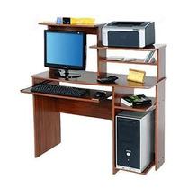 Mesa Para Pc Oficina Platinum 9017 Cedro Impresora Scanner