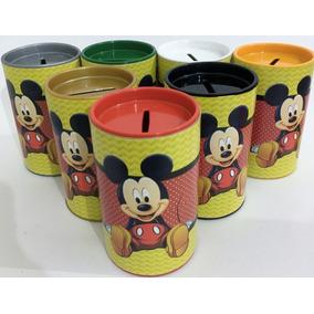 50 Cofrinho Mickey Mouse + 20 Caixinhas De Acrílico
