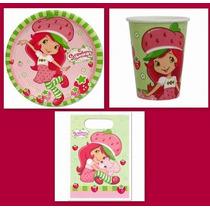 Kit Manteleria Rosita Fresita Combo Fiesta Infantil