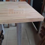 Desayunador-tabla-barra- Madera Pino Sin Nudos - Mader Shop