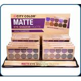 Maquillaje X Mayor Lote 10paleta De Sombras Matte City Color