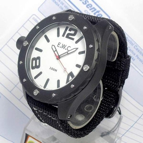Relógio Masculino Ewc Coroa Canhoto Extragrande Emt11322-c