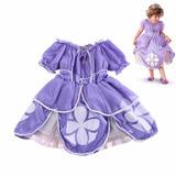 Vestido Fantasia Infantil Princesa Princesinha Sofia Sophia