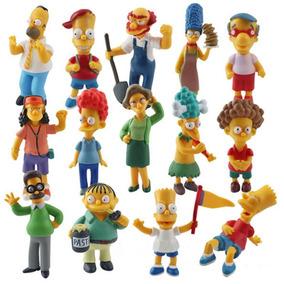 Simpsons Boneco Miniatura Kit Com 5 Bonecos