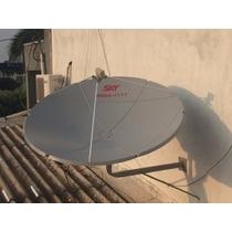 Antena Sky 1,50cm Completa 20 Mts De Cabos