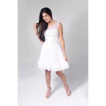 Vestido De Noiva Curto Lindo Casamento Civil Pronta Entrega