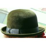 Sombrero Bombín Tongo Borsalino Fieltro Verde Musgo Chaplin