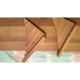 Repisa, Estante D/pino C/ménsulas,madera Natural,cm90x20x2,5