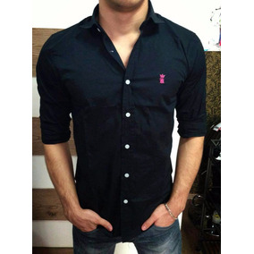 Sergio K Camisa Social Xadrez Caveiras Linho 100% Original