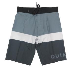 Bermuda Agua Quiksilver Every Day Blocked Cinza