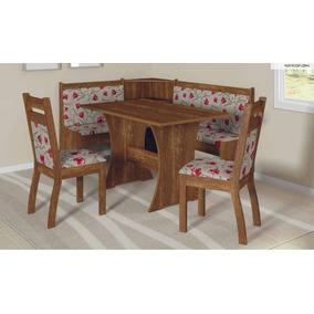Mesa De Canto Cozinha Jantar Alemão Com 2 Cadeiras - Soneto
