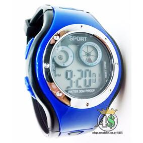 Relógio Digital Sport Infantil Criança Esporte - Azul 1019