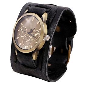 Relógio Bracelete Punk Rock - Pulseira Larga Barato Promoção