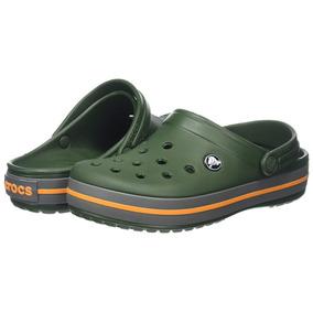 Crocs Crocband Originales -forest Green Slate Grey-