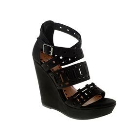 Zapato Dama Sandalia Montrose Negro Wedges Chinese Laundry