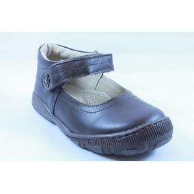Zapatos Miniburbujas Escolares Café Niña 18.5 O 19.5 M E9570