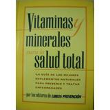 Libro Vitaminas Y Minerales Para La Salud Total
