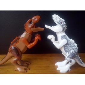Indominus Rex Vs T Rex Parque Dinossauro Boneco Padrão Lego