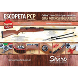 Escopeta Shark Pcp+linterna Tactica+funda+cartuchos