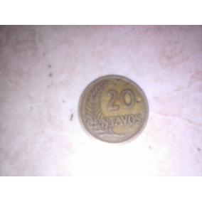 Moneda Peruana 20centavos 1948