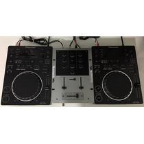 Kit 2 Cdj 350 Pioneer + 1 Mixer Numark