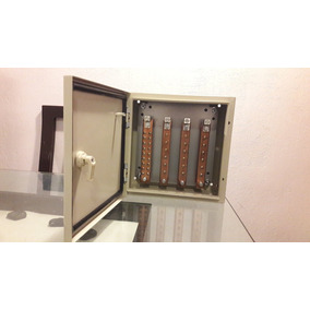 Caja De Distribución Eléctrica 18 Servicios Barras De Cobre