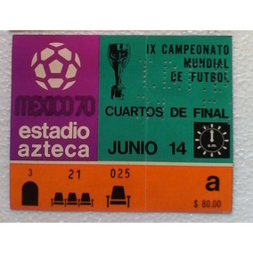 Mundial Mexico 1970 Boleto Seleccion Futbol Memorabilia