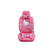 1 Set Hello Kitty Peach Funda De Asiento De Coche Transpirab