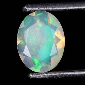 Opalo De Fuego Etiopia Facetado Piedra Preciosa 100% Natural