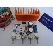 Modulo Amplificador 40 W C/ Preamplificador Trafo Disipador