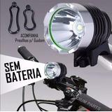 Somente Farol Bike Lanterna Led Bicicleta T6 Sem Bateria