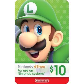Cartão Nintendo Usa 3ds - Eshop Card $10 Dólares