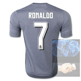 6bfb917a72770 Jersey  7 Ronaldo Real Madrid Gris 2016 adidas Visita Bale