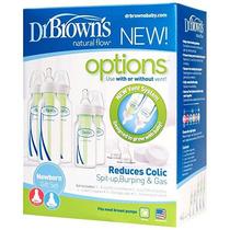 Dr Browns Set 5 Teteros Anticolicos 4oz/8oz Azul/verde