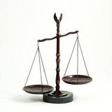 Abogado Legal Bronceado Balanza De La Justicia Con Remate D
