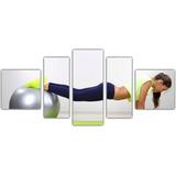 Quadro Decorativo Musculação Academia Pilates Decoração