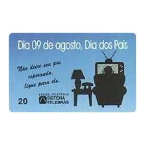 Avulso - Dia 09 De Agosto - Dia Dos Pais - Telepar - R$ 0,19