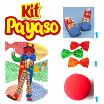 Kit Payaso $49.00 Zapatos Nariz Y Moñote