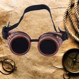 2911121363e02 Óculos Steampunk Rock Motoqueiro Aviador Cosplay Punk Max