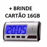 Relogio Digital Espiao Mini Camera 16gb Quarto Bebe E Baba