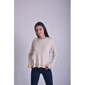 Sweater Mujer Con Volados Yasi