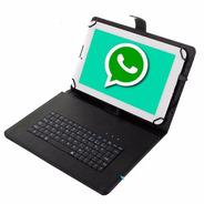 Tablet 4g Telefono Android Celular Pc Dual Chip + Teclado