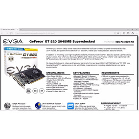 Tarjeta De Video 2gb Ddr3 Evga Geforce Gt 520
