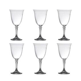 Jogo 6 Taças Pantografadas 360ml De Cristal Bohemia - R5280