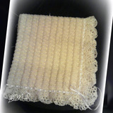 Manta De Bebe Tejida Al Crochet. Medidas 80 X 80cm.