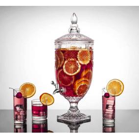 Suqueira Em Cristal Com Dispensador De Bebidas 4 Litros