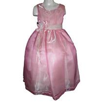 Vestido Largo Organza Fiesta Pajecita Princesa 5 - 6 Años