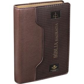 Bíblia Sagrada Pequena - Marrom - Couro Luxo Sbb