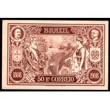 1908 Bilhete Postal 50 Reis Castanho Bp-77