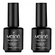 Esmalte Meline Semipermanente Combo Base Coat + Top Coat